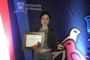 Julie Receives Distinguished Alumni Award from University of Victoria