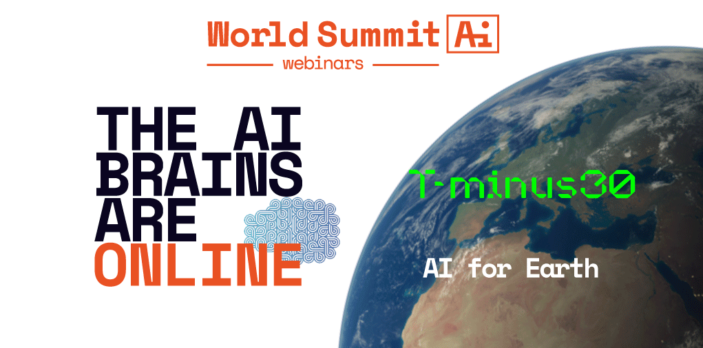 Banner for The AI Brains Are Online: World Summit AI, AI for Earth event