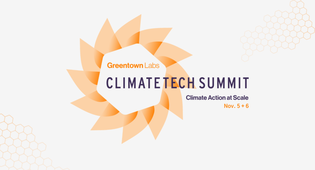 Greentown Labs Climatech Summit banner