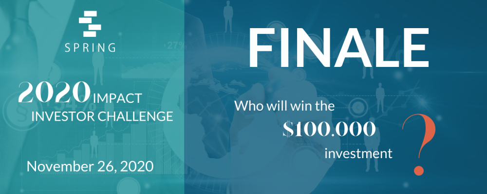 2020 Impact Investor Challenge Finale Banner
