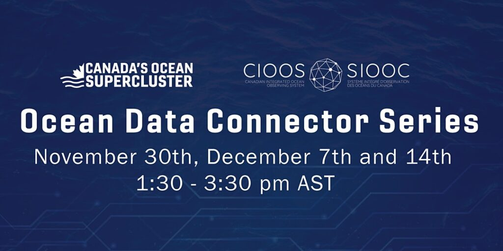 Ocean Data Connector Series event banner with date and time