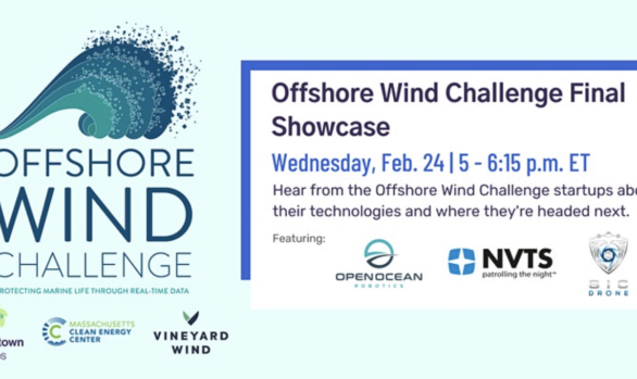 offshore wind challenge final showcase event details displayed on a banner
